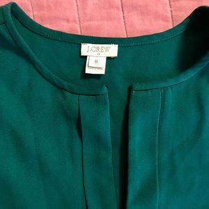 J crew green blouse